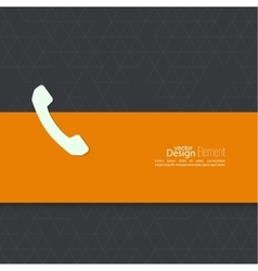 Abstract background with handset vector
