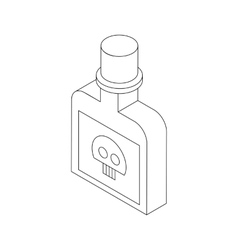 Bottle with poison icon isometric 3d style vector