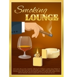 Smoking Lounge Poster vector image