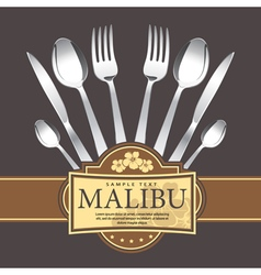 Restaurant menu design on dark background vector image