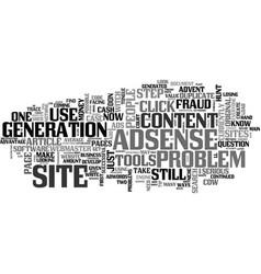 Adsense still a cash cow text word cloud concept vector