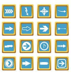 arrow icons azure vector image vector image