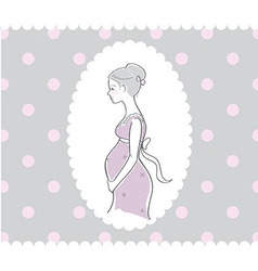 Background with hand drawn pregnant woman vector image vector image