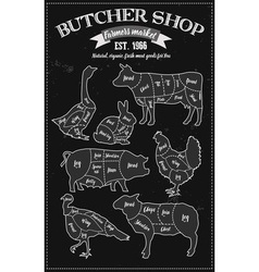 Butcher shop board vector