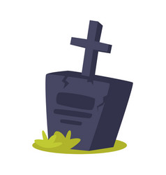 cartoon of grave vector image