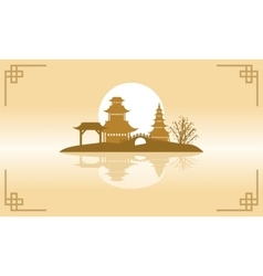 Chinese beauty landscape of backgrounds vector