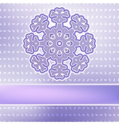 Christmas snowflake on red purple EPS8 vector image vector image