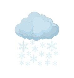 Cloud and snowflakes icon cartoon style vector image