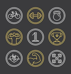 Crossfit logos and emblems vector