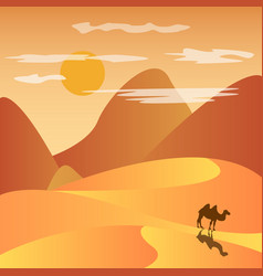 Desert with mountains vector