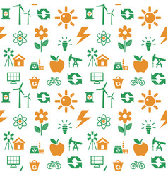 Digital orange green ecology vector