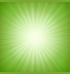 Elegant green starburst background vector