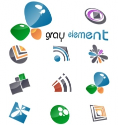 gray elements vector image