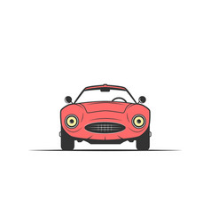 hand-drawn red car vector image vector image