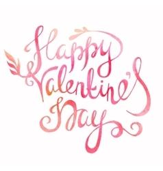 Happy Valentines day congratulation vector image vector image
