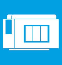 Inkjet printer cartridge icon white vector