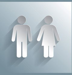Male female wc icon vector