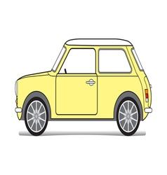 Old yellow mini vector image vector image