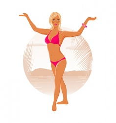 pretty blond girl vector image