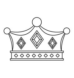 Prince crown icon outline style vector