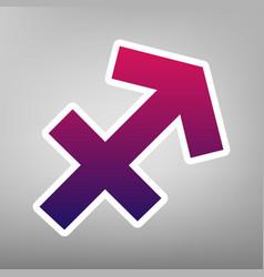 Sagittarius sign purple vector