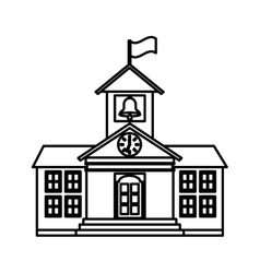 school building isolated icon vector image vector image
