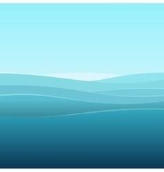 Sea Abstract Background of Blue Waves vector image vector image