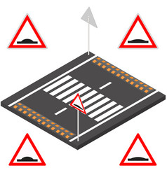 speed bump in 3d vector image vector image