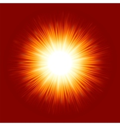 sunburst rays background vector image