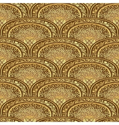 Vintage seamless pattern brown-gold vector image vector image