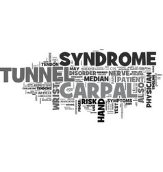 What is carpal tunnel syndrome text word cloud vector