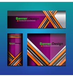 Business banner backgrounds vector