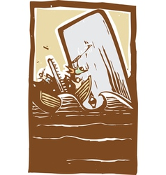 Whaling Trouble Color vector image