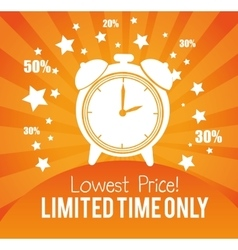 Lowest price limited time only advertisement gold vector