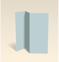 Blank brochure Editable design template vector image