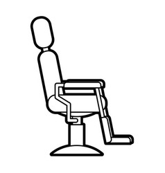 Barbershop chair isolated icon vector