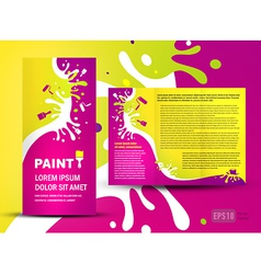 Brochure folder paint colorful element design vector