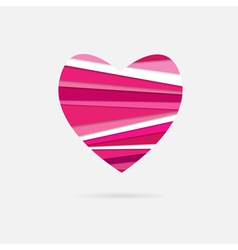 Heart of paper strips vector