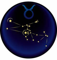 Zodiac Taurus sign vector image