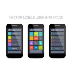 3 mobile user interface designs vector