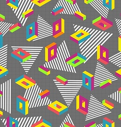 Retro 80s seamless pattern background vector