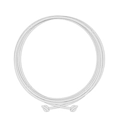 Round rope contour node frame vector