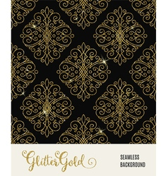 Glitter golden seamless pattern vector image