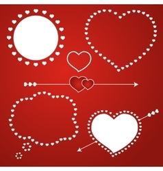 Speech bubble love template icon vector image