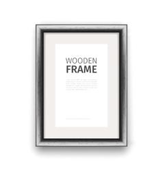 Wooden rectangle frame dark vector