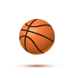 Realistic basketball ball with shadow on white vector image