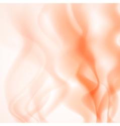 Abstract background of orange smoke vector image