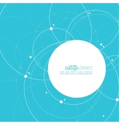 Abstract background with overlapping circles vector