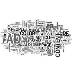 Adsense that works text word cloud concept vector