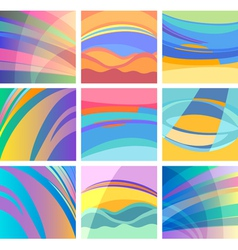 background abstract pastel design set vector image vector image